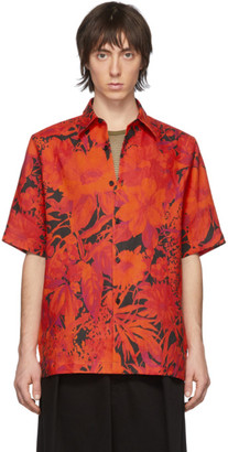 Dries Van Noten Red Floral Hadler Polo
