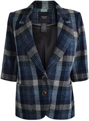 Smythe Blue Wool Jacket for Women