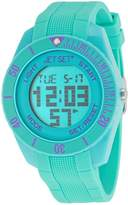 Jet Set of Sweden Bubble Touch Digital Dial Turquoise Rubber Unisex Watch