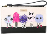 Kate Spade printed top zip wallet - women - Cotton/Calf Leather/Polyester/PVC - One Size
