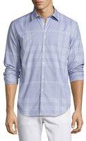 Burberry Modern-Fit Point Check Sport Shirt, Bright Navy