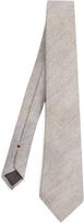 Brunello Cucinelli Diagonal-knit wool and silk-blend tie