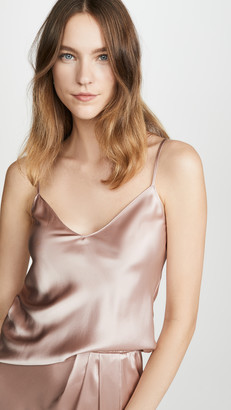 SABLYN Gloria Satin V Neck Cami