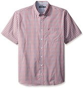 Nautica Men's Big-Tall Wrinkle Resistant Gingham Short Sleeve Shirt