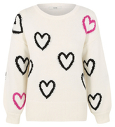 George Heart Print Knitted Jumper
