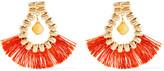 Rosantica Atena Fringed Gold-tone Calcite Earrings - Orange