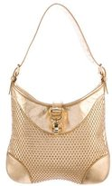 Ralph Lauren Metallic Woven Leather Bag