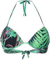 Ermanno Scervino palm print bikini top
