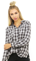 West Coast Wardrobe Davis Plaid Button Down in Charcoal/Red