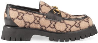 Gucci GG wool loafer with Horsebit