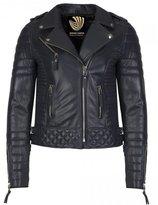 Exportica Leather Women's Lambskin Leather Motorcycle Biker jacket