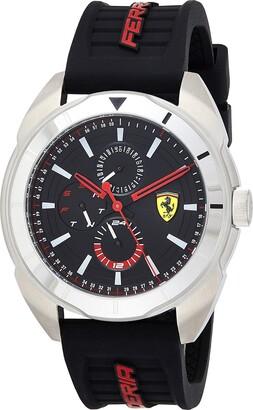 Ferrari Forza Quartz Stainless Steel and Silicone Strap Casual Watch Black Men 830546