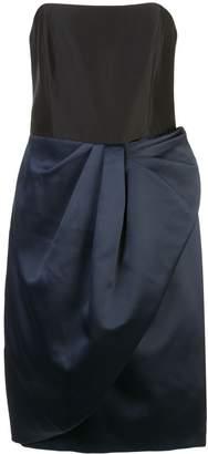 Halston strapless satin dress