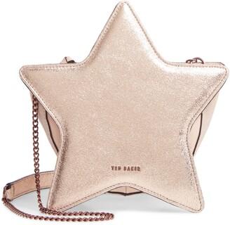 Ted Baker Starry Metallic Leather Shoulder Bag