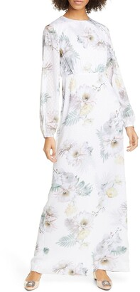 Ted Baker Sonna Woodland Lace Trim Maxi Dress
