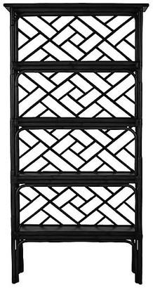 David Francis Furniture Chippendale Bookcase - Black