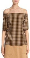 Lafayette 148 New York Women's Livvy Neo Classic Check Blouse