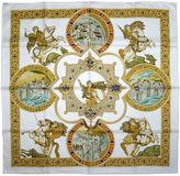 One Kings Lane Vintage Hermès Le Triomphe du Paladin Scarf
