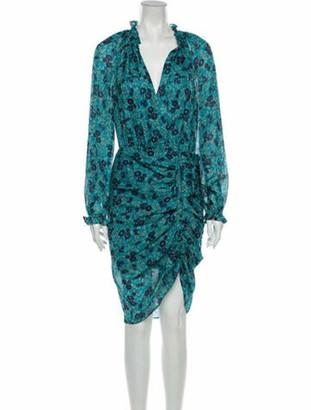 Veronica Beard Silk Midi Length Dress w/ Tags Blue