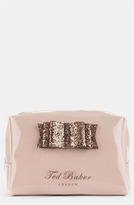 Ted Baker 'Glitter Bow - Large' Cosmetics Bag