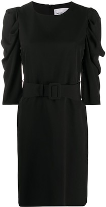 Blumarine Puff Sleeve Short Dress