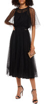 Thumbnail for your product : Maria Lucia Hohan Shani Embellished Belted Tulle Midi Dress