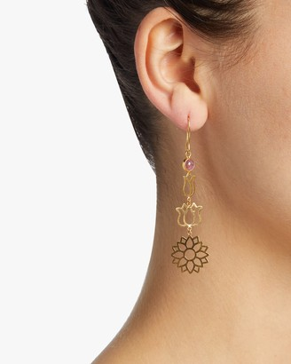 Pippa Small Burmese Long Lotus Earrings
