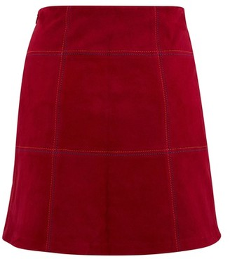 STOULS Claire leather skirt