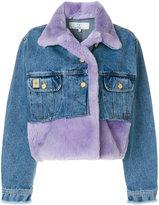 Natasha Zinko cropped panelled denim jacket
