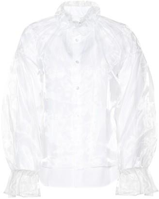 Noir Kei Ninomiya Organza and poplin blouse