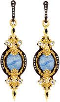 Armenta Filigreed Oval Drop Earrings w/ Kyanite, Sapphires & Diamonds