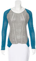Helmut Lang Asymmetrical Scoop Neck Sweater