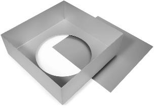 Cake Alan Silverwood Ltd - Square Tin Loose Base 8 Inch