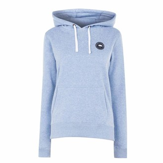 Soul Cal Womens Signature Over The Head Hoodie OTH Hoody Hooded Top Zip Pale Blue Marl 12 (M)