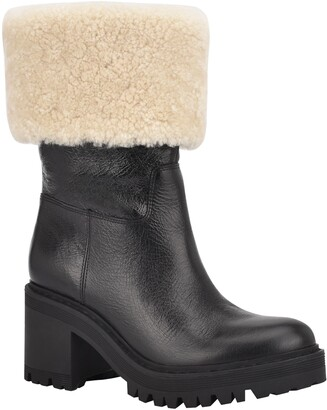Marc Fisher Willoe Boot with Genuine Shearling Trim