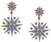Oscar de la Renta star pendant earrings