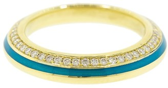 Andy Lif 18kt gold diamond Sima band ring