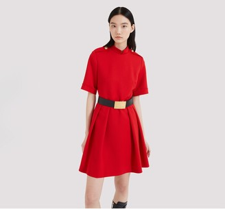 Mulberry Hana Dress Scarlet Cavalry Twill