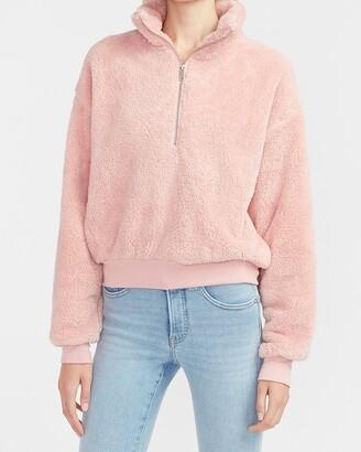 Express Cozy Fleece Quarter Zip Sweatshirt