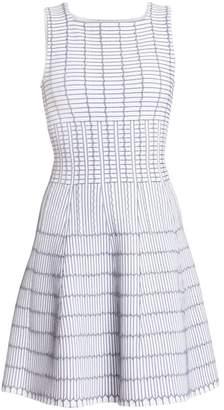 Alaia Pagode Pintuck A-Line Dress