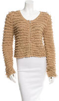 Rag & Bone Fringe-Accented Zip-Front Sweater