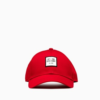 Opening Ceremony Embroidered Small Box Logo Baseball Cap Ymlb002f20fab001