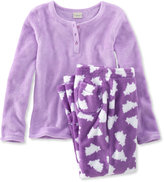 L.L. Bean Girls Sweet Dreams Fleece PJs Set