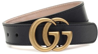 Gucci Kids GG leather belt