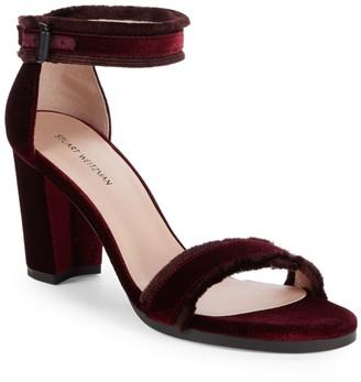 Stuart Weitzman Frayed Ankle Strap Sandals