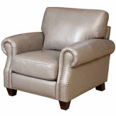 Asstd National Brand Arianna Leather Roll-Arm Chair