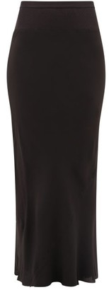 Rick Owens Draped-panel Crepe Skirt - Womens - Black