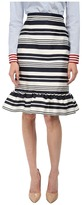 RED Valentino Striped Jacquard Skirt
