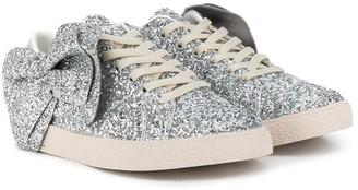 Douuod Kids Sequin Bow-Detail Sneakers