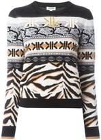 Kenzo multi icon intarsia jumper - women - Polyester/Wool/Metallized Polyester - XS